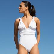 Femininer Badeabzug 'Komodo' in Lila oder Weiss