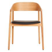 Design Special: Stuhl 'AC2' in Holz / Leder