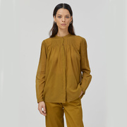 Bohème 'Closed'-Bluse in Golden Brown