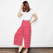 Luftige Culotte in Sakura Red