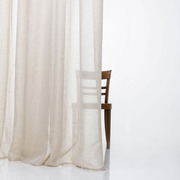 Extra wide linen ready made curtains beige zigzagzurich 4984 low