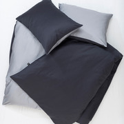 Zigzagzurich reversible satin cotton duvet cover anthrazit grey zigzagzurich 3897 low