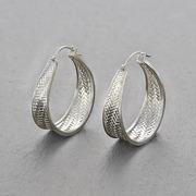 'Palmyrah' Ohrringe in Silber oder vergoldet