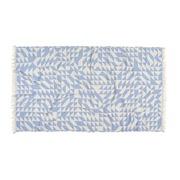 Blau-Weisses grafisches 'Yoga Towel'