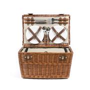 Picknick-Koffer für 4 Personen natur