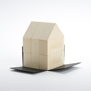 Puzzle home toy architecture kid construction wood cinqpoints slide 4