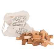 Stoffsack mit Holzklötzli