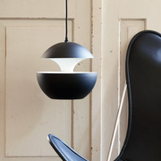 Lampe 'Here comes the sun' schwarz