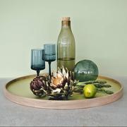 Oak green tray styled