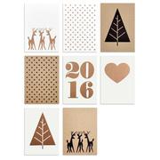 8 Weihnachtsmotive Postkarten