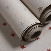 3er Rollen Geschenkpapier mit Sternen