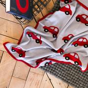 Babydecke 'Auto Auto' Merinowolle