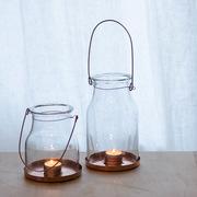 Grosses Kerzen-Glas mit Kupferboden