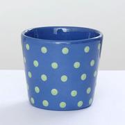Keramik Pünktli-Becher blau-grün