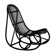 Sika nanny rocking chair matt black 1