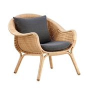 Easy Chair 'Madame' aus Rattan