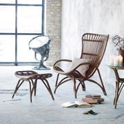 Einzelstück: Sessel 'Monet' in Taupe