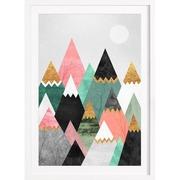 Bild 'Pretty Mountains' gerahmt