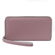 1 big zip around wallet dusty rose front