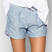 White shirt stribed shorts a