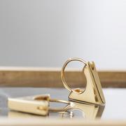 Ohrringe 'Triangel' Silber oder Gold
