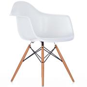 Einzelstück: 'Eames Plastic Armchair' weiss