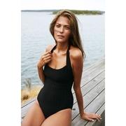 Für die Badi - Swimsuit 'Albatross' schwarz