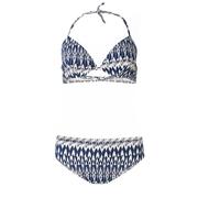 Paula beachwear capri seaweed bikini blue ikat