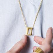 Kette Rectangle von 'Felix Doll' vergoldet