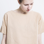 Boxy Shirt aus Hanf in Crème