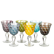 6 Weinkelche 'Multicolor'