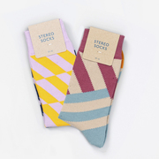 Stereo socks 1503 stripe down package 000