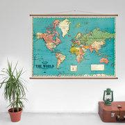 'The World' Vintage Karte
