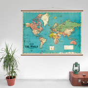 Map of the world photo mood