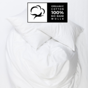 Weisser Duvetbezug aus Bio-Baumwolle