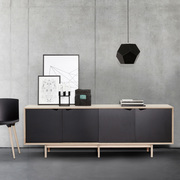 S1 sideboard oak black closed 2
