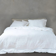 Naughtylinen bedding mixandmatch optical white frontal grande