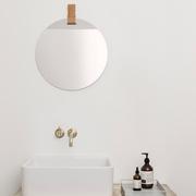 Runder Spiegel 'Enter' mit Ledergurt