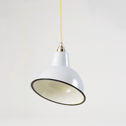 Warehouse home twitter competition grey angled cloche lampshade forward facing with beige cable