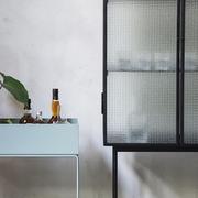 Glasvitrine 'Haze' mit Drahtglas
