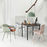 Muuto base table round 110 cm schwarz sperrholzkante ambiente
