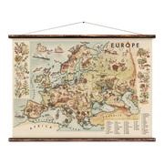 Erstwhile ruebner europe wall chart 0 original