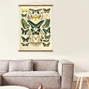 Vintage Wandkarte 'Papillons'