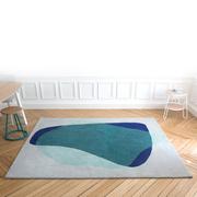 Harto serge rug shades of green blue insitu