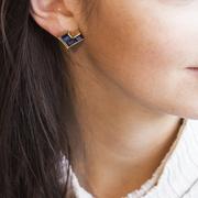 Saphir-Ohrringe blau