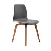 Gepolsterter Stuhl Copilot mit Holzbeinen