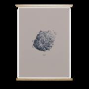 Gerahmte Illustrationen: 'Hailstone Everest Grey'