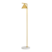 Flos captain flint floor lamp brushed brass with white marble base