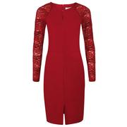 Frauenbekleidung kleider baumwolle rot celine rubyred 4
