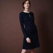 Frauenbekleidung kleider viskose blau cecilia oxfordblue 1